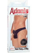 Adonis Mesh Thong With C-ring Black Large/xtra Large