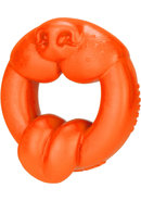 Oxballs Scrappy Puppy Silicone Cockring Orange