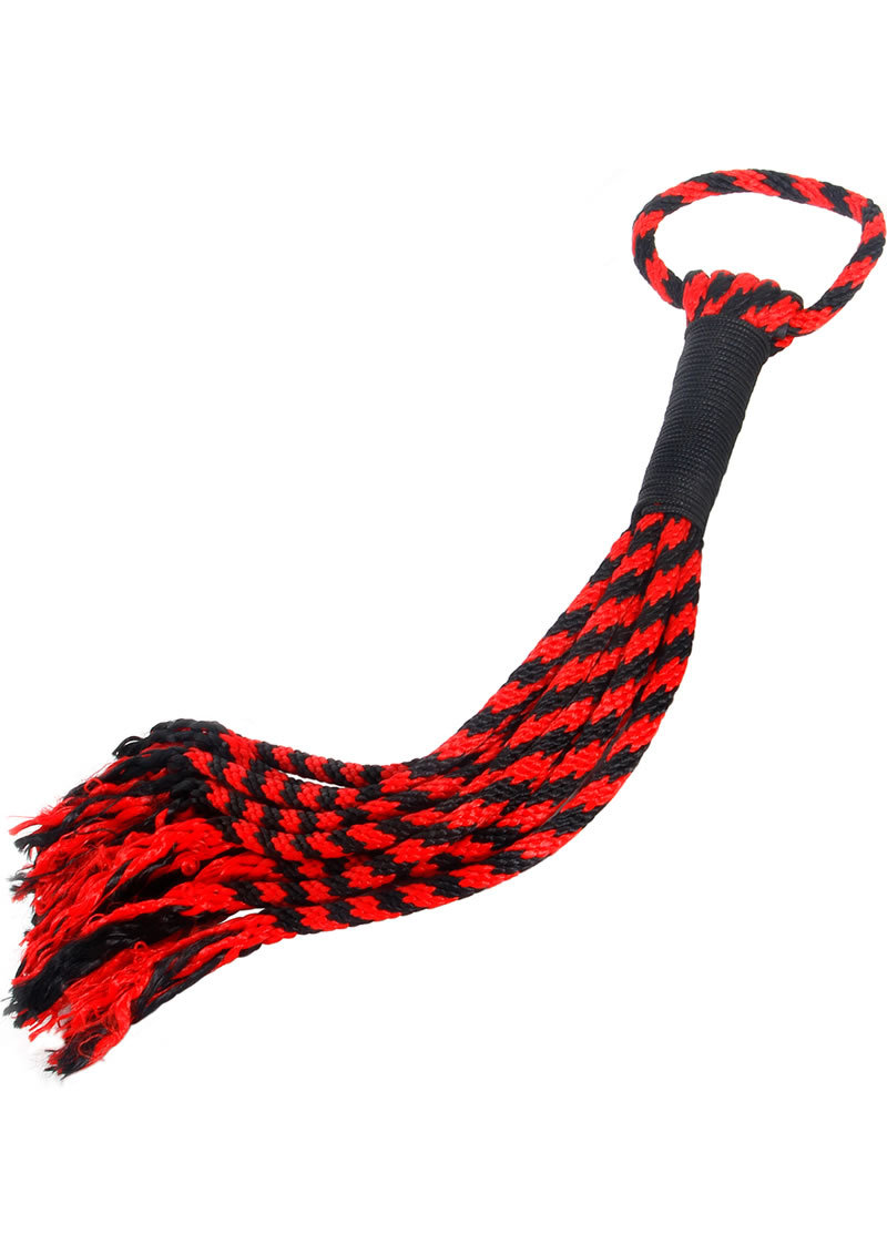 Scarlet Couture Bondage Rope Flogger Black And Red