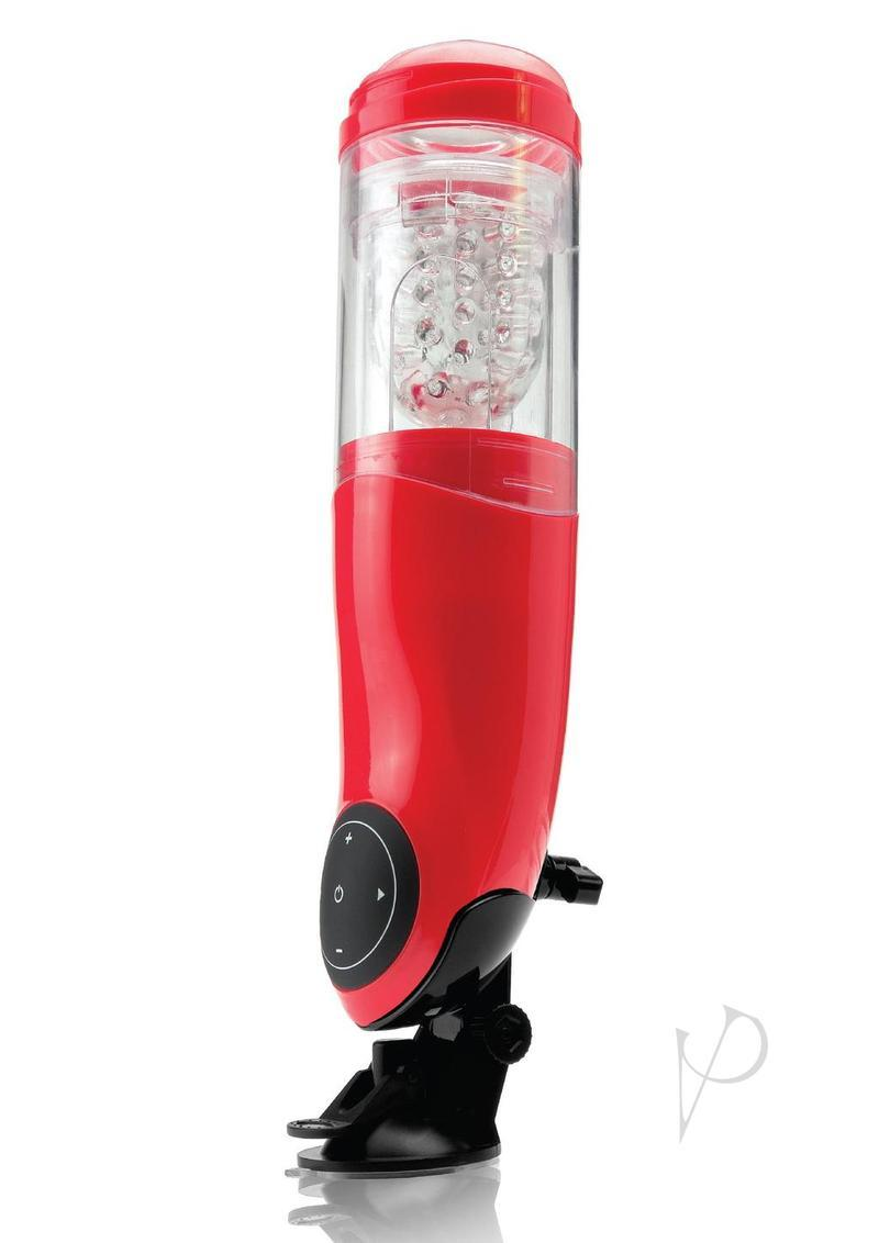 Pipedream Extreme Mega Bator Mouth Rechargeable Hands Free Stroker Masturbator Waterproof Red