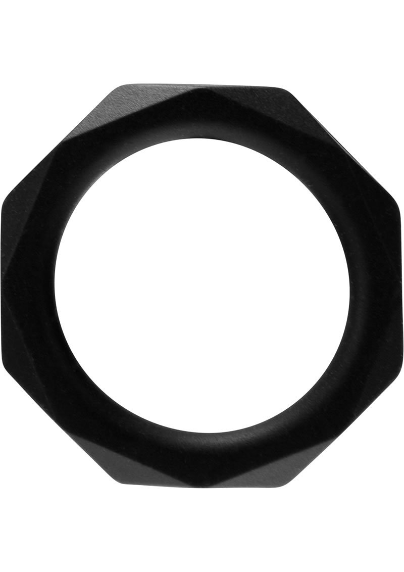 Rock Rings Cocktagon Silicone Cockring  Xxl Black