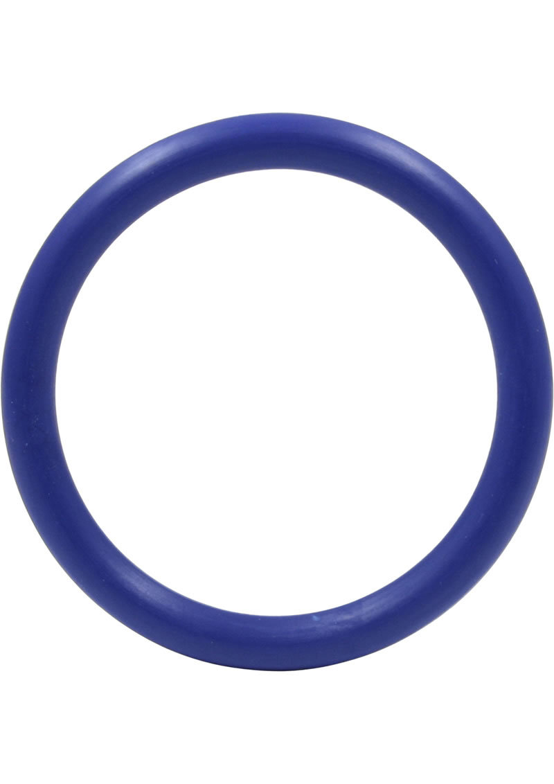 Rubber Cock Ring 1.5 Inch Blue